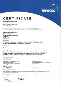 Zertifikat IFS